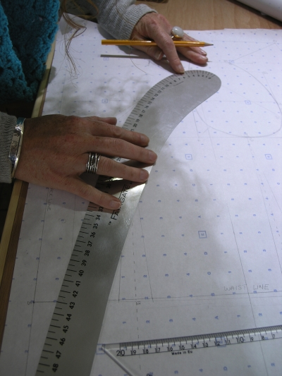 Student Drafting the Bodice Block